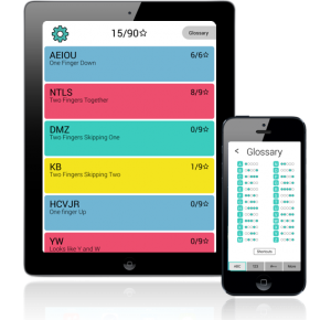 An image of the TapGenius learning app on iPhone and iPad. TapGenius teaches you to Tap in just 90 minutes.